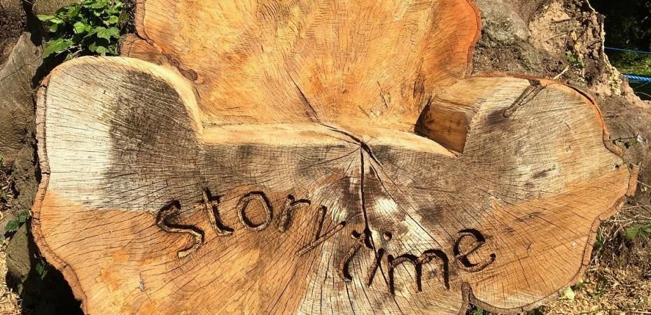Wood storytelling chair